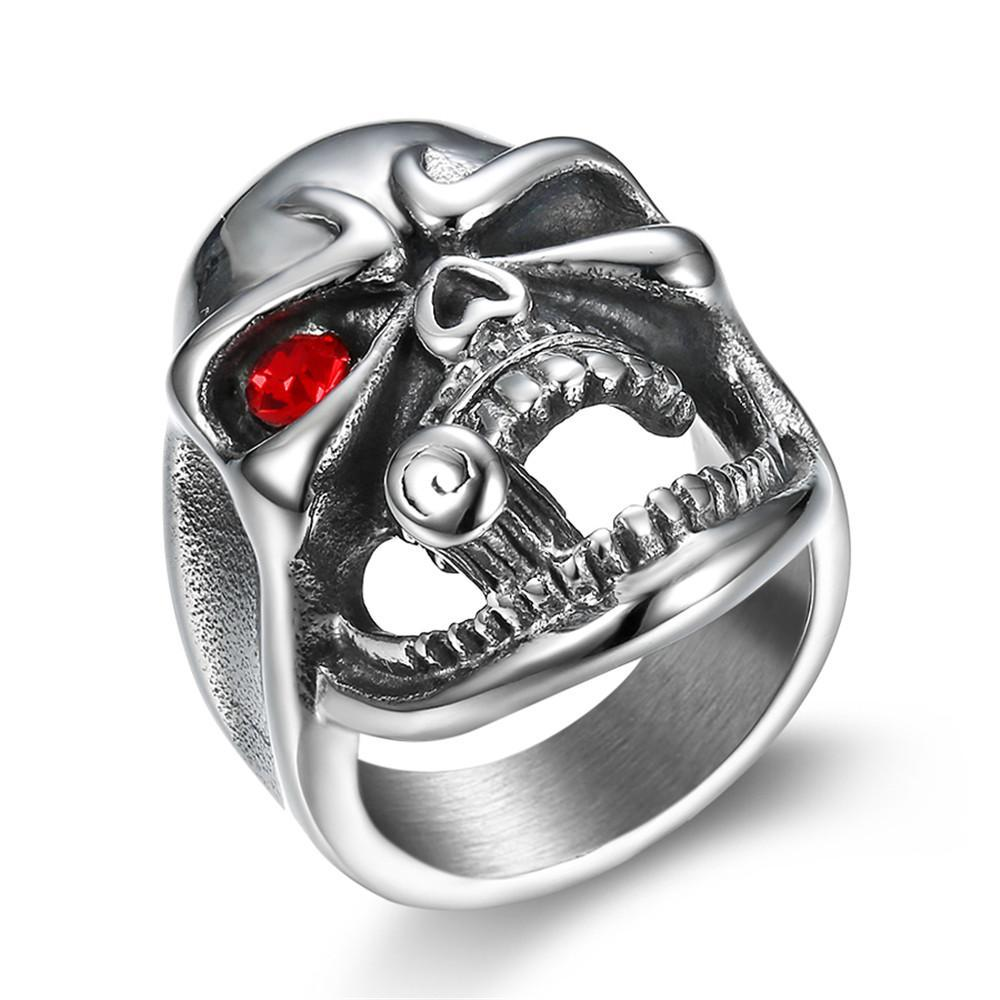 Titanium Pipe Skull Ring