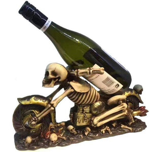 Vintage Skeleton Skull Wine Holder
