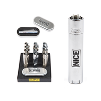LOGO METAL CLIPPER LIGHTER - SILVER - MR NICE