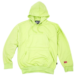 NICE LOGO DOUBLE POCKET HOODIE - LIME
