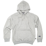 LOGO DOUBLE POCKET HOODIE - GREY MARL