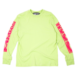 STRETCH LOGO LONGSLEEVE T-SHIRT - LIME