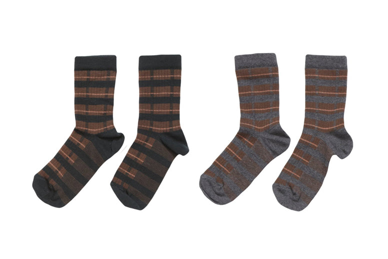 CARAMEL STRIPE SOCKS