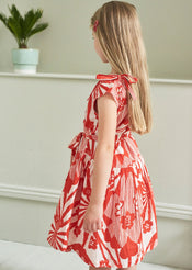 Notting Hill Dress, Red Flower Print