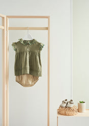 Sloane Square Baby Dress, Sage Green