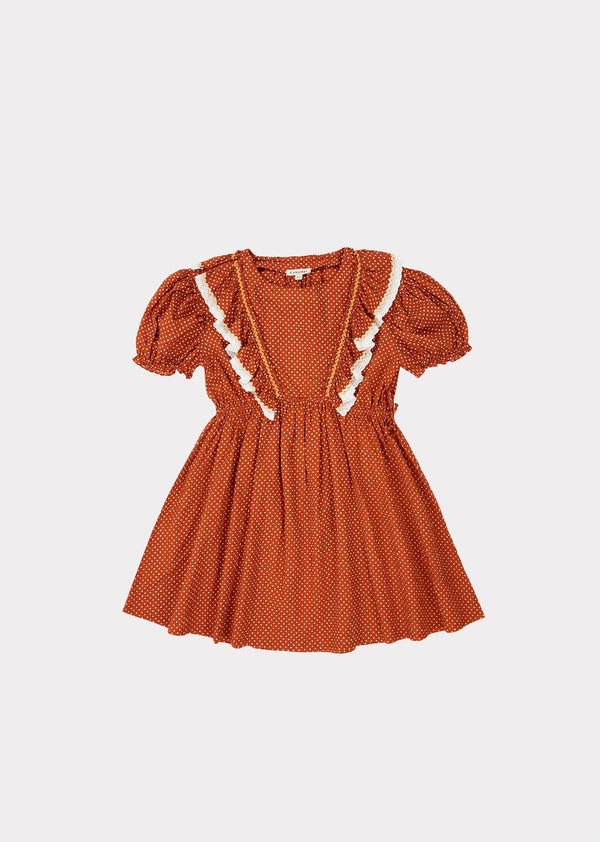 Orca Dress, Rust Dot