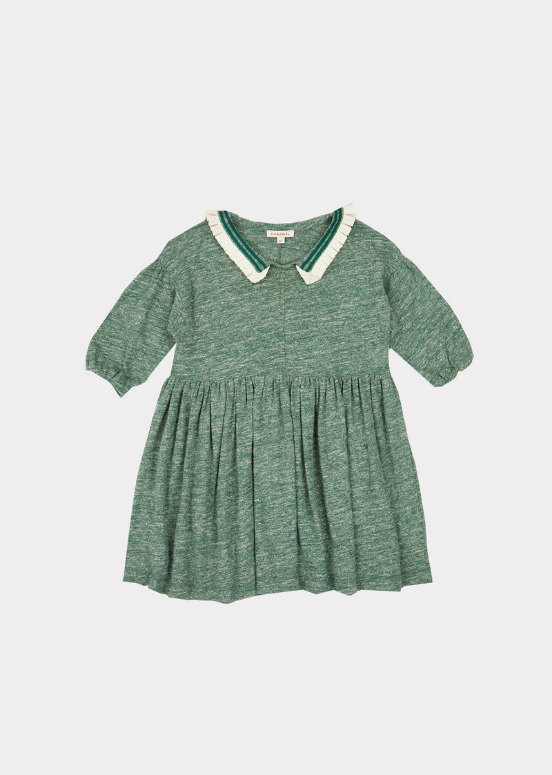 Vaquita Dress, Green Melange