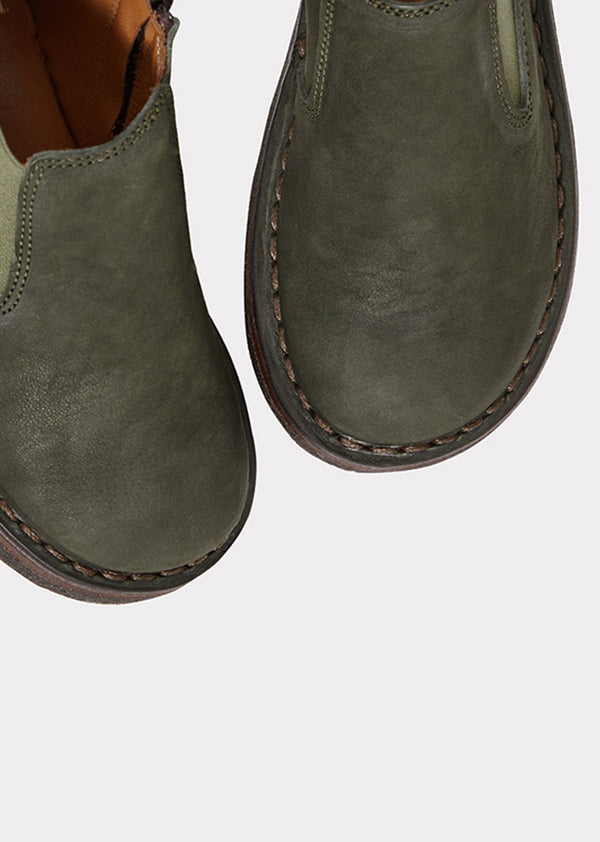 Pepe | Zip Up Low Boots, Bottle Green