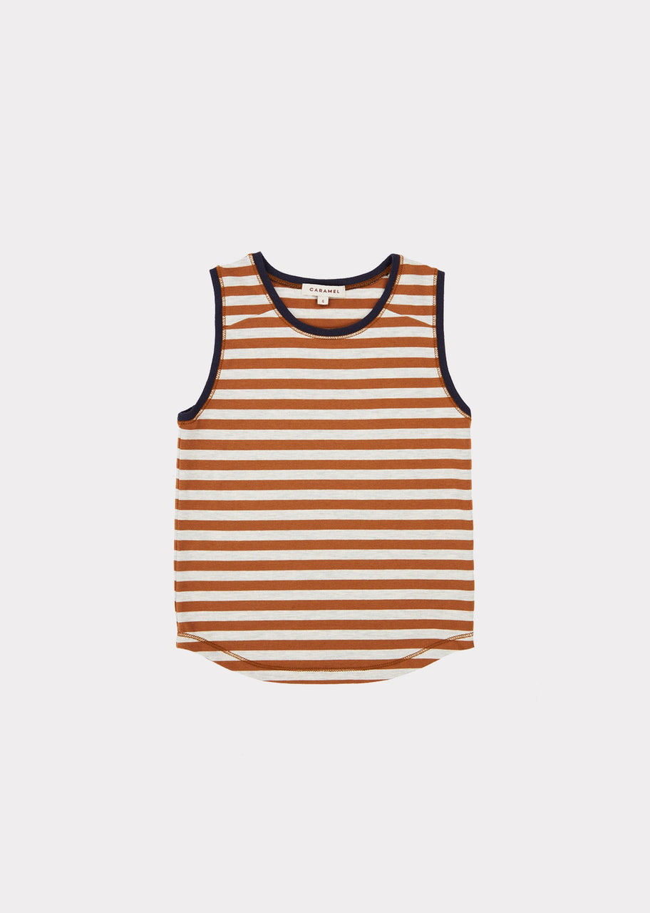 Aldwych Vest, Brown Stripe