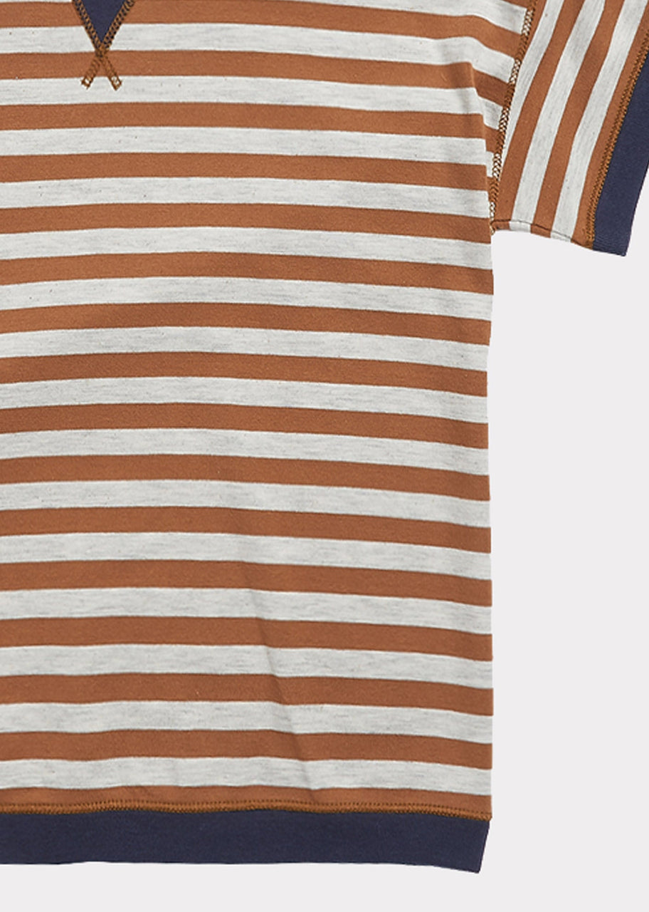 Balham T Shirt, Brown Stripe