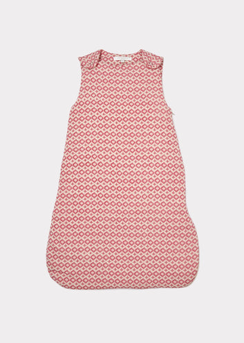 Sleeping Bag, Pink Geometric Print