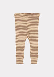 Chaffinch Baby Trousers, Straw/chocolate