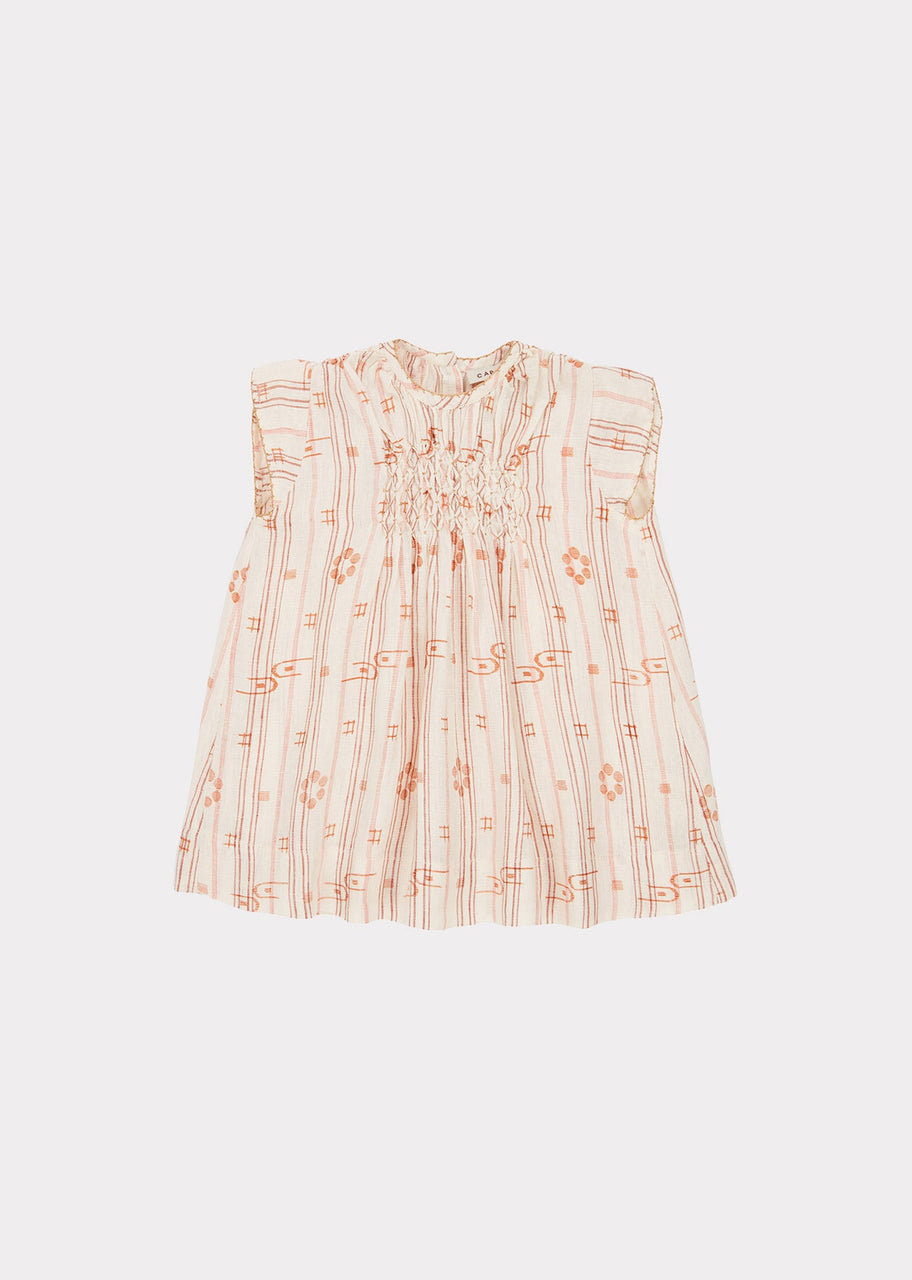 Clapham Baby Dress, Rose Tan