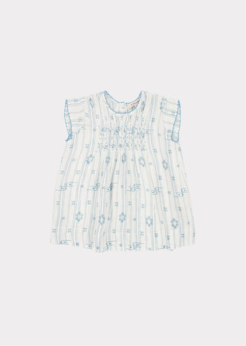 Clapham Baby Dress, Vapour Blue