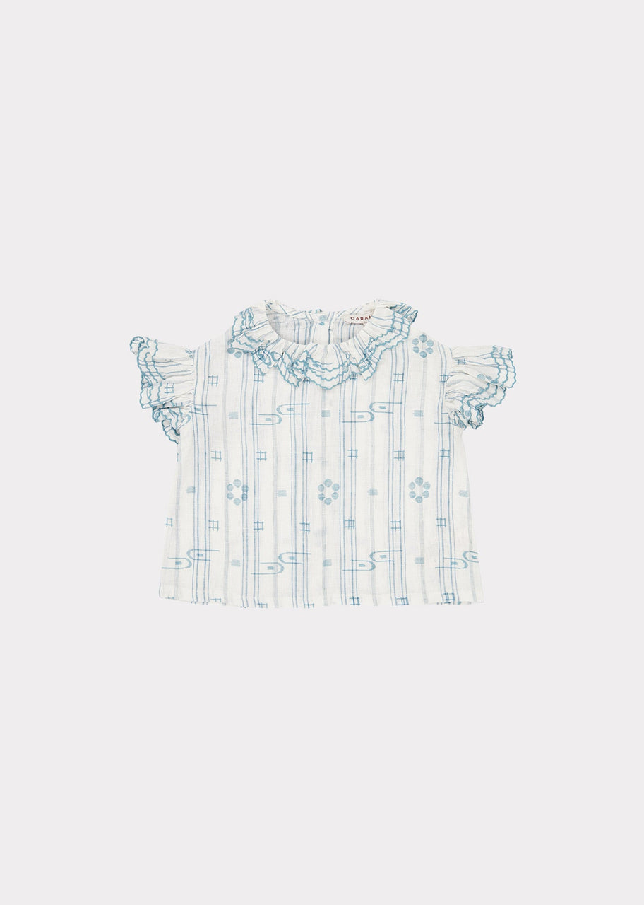Hammersmith Baby Top, Vapour Blue