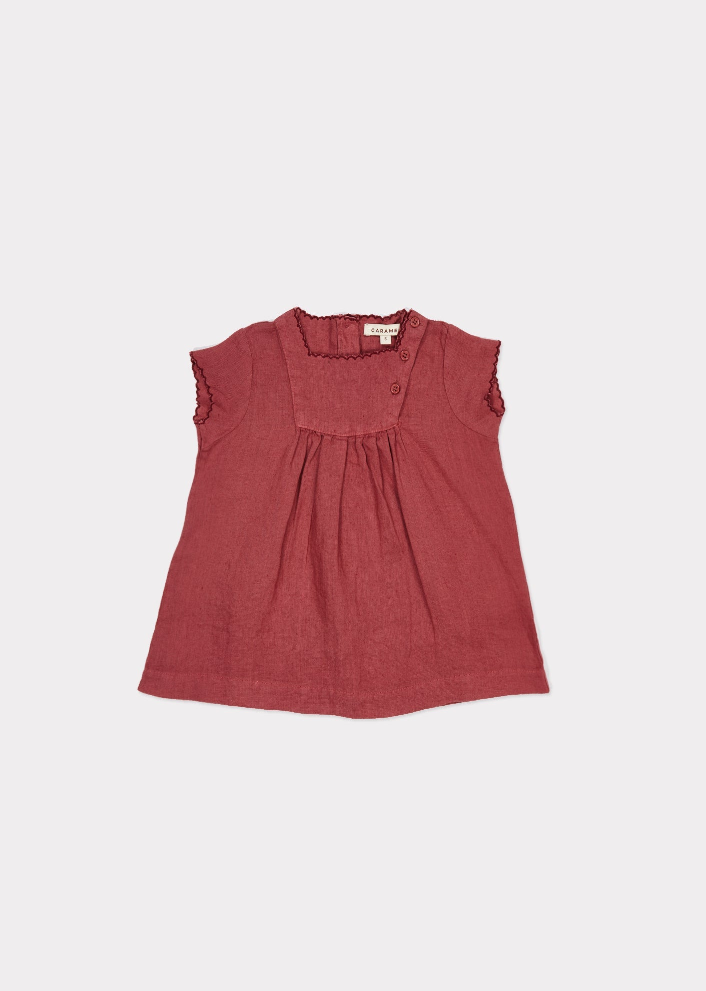 Lettuce Baby Dress, Rosebud