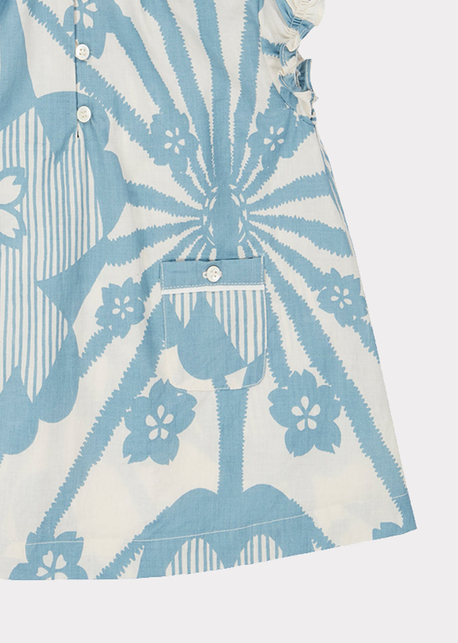 Notting Hill Baby Dress, Blue Flower Print