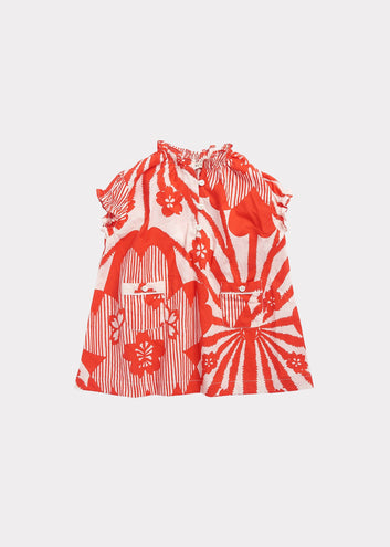 Notting Hill Baby Dress, Red Flower Print