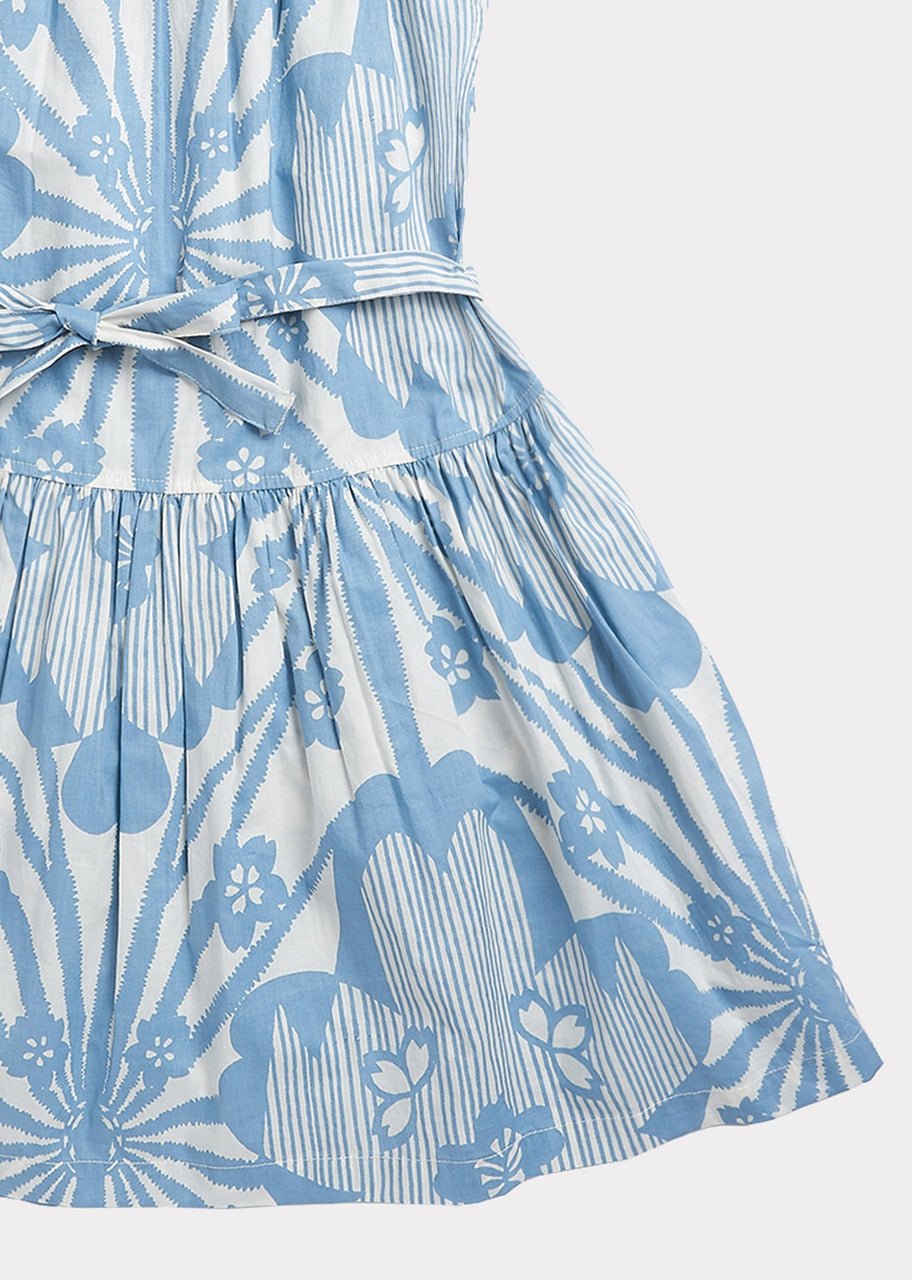 Notting Hill Dress, Blue Flower Print