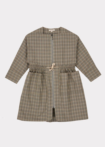 Paddington Dress, Check Grey