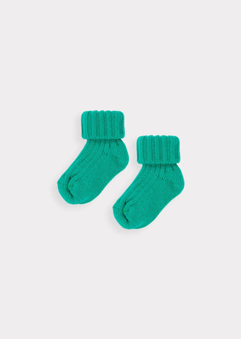 Baby Rib Ankle Socks, Teal