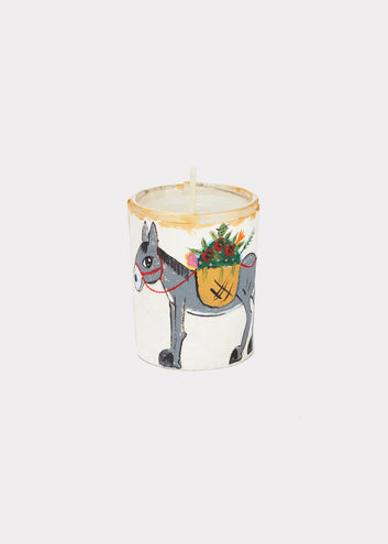 River Song | Handpainted Votive Holder Donkey