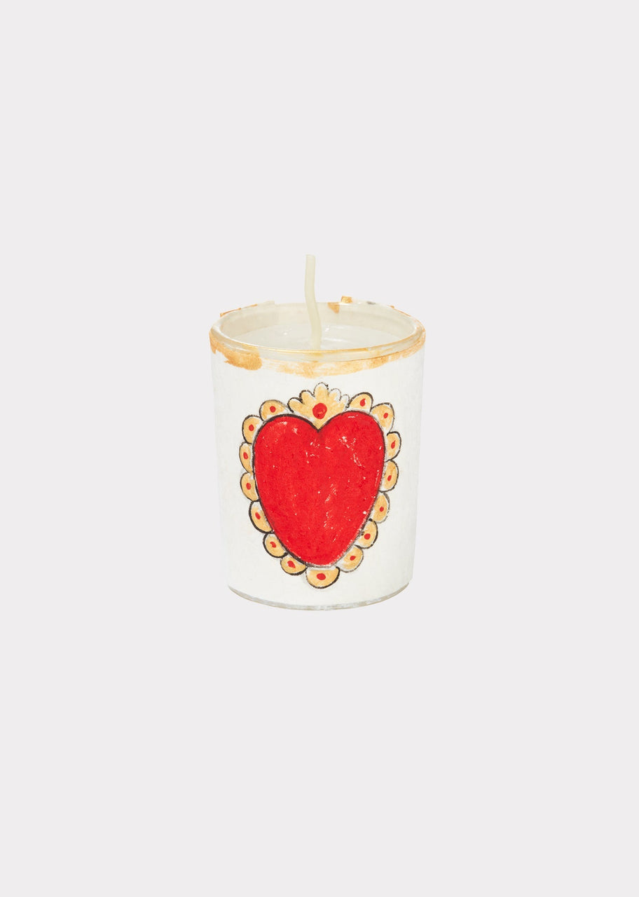 River Song | Handpainted Votive Holder Exvoto Heart