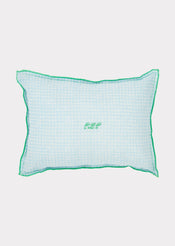 Scatter Cushion, Blue Check