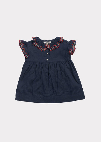 Sloane Square Baby Dress, Dark Navy