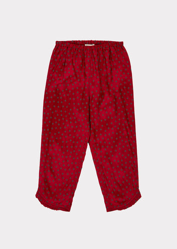 Tamarisk Christmas Trouser, Crimson Dot