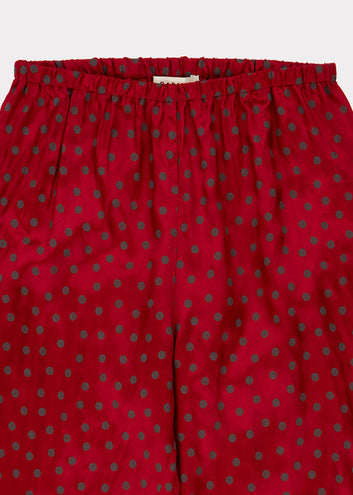 Tamarisk Trouser, Crimson Dot
