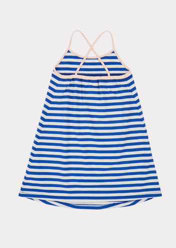 Tooting Dress, Blue Stripe