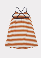 Tooting Dress, Brown Stripe
