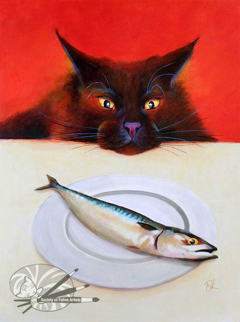 Fish For Lunch - Original Acrylic Painting