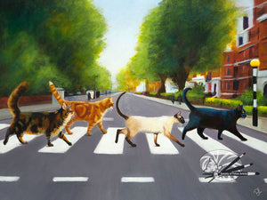 Abbey Road Cats - Limited Edition Print