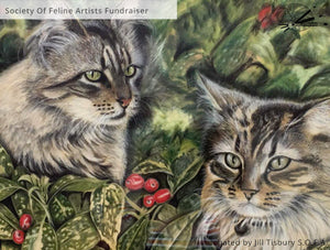 In The Fuzzies' - Original Pastel Painting