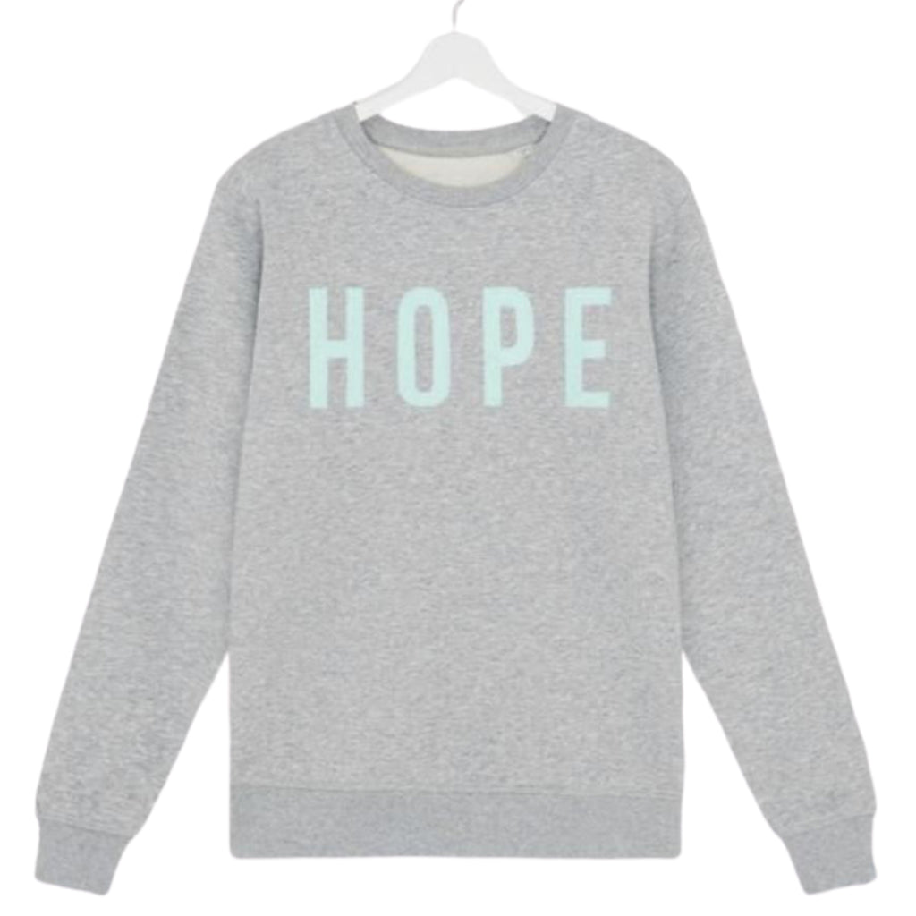 Grey & Mint 'HOPE' sweatshirt in aid of Teddys Legacy fund.