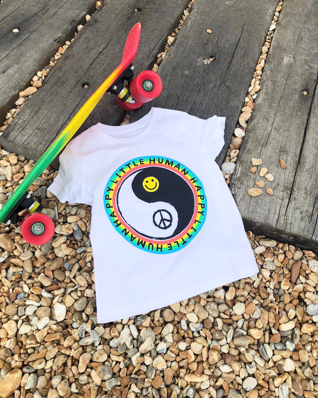 White HAPPY LITTLE HUMAN™ Tee In Aid of YOUNG Minds Charity
