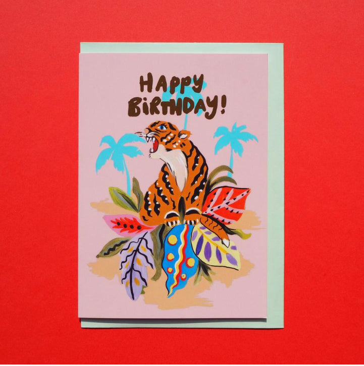 Happy birthday Tiger card by Eleanor Bowmer