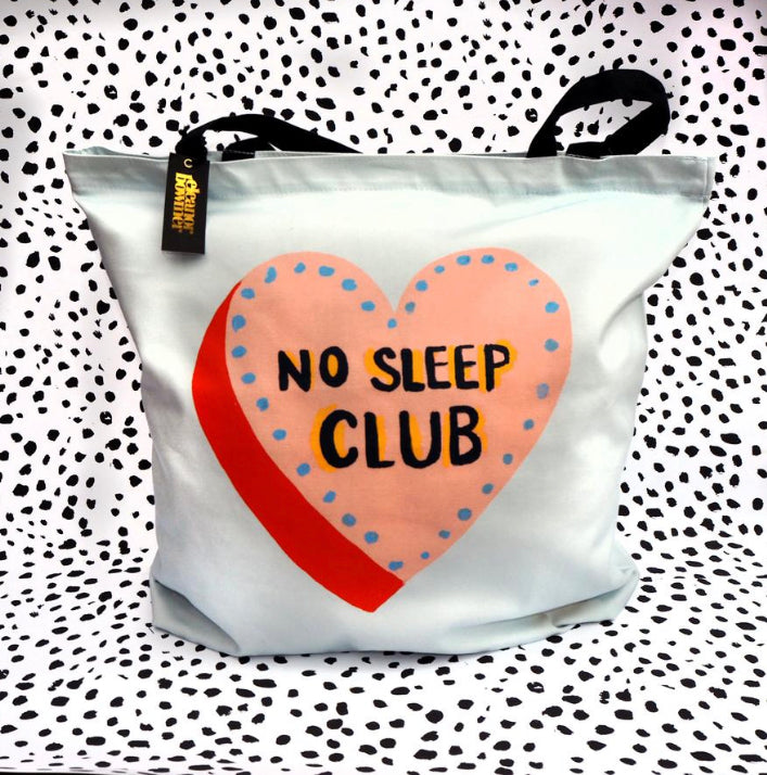 No Sleep Club Tote bag by Eleanor Bowmer