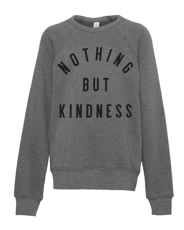 Grey & Black NOTHING BUT KINDNESS super soft jumper in aid of Mind Charity