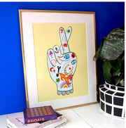 Fingers crossed print by Eleanor Bowmer