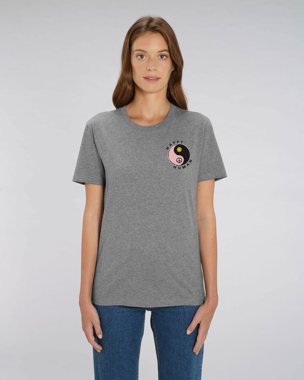 Grey HAPPY HUMAN Tee in Aid of Mind charity