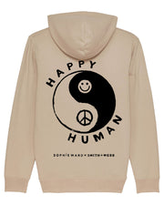 Desert Sand & Black 'Happy Human' Hoodie in Aid Young Minds