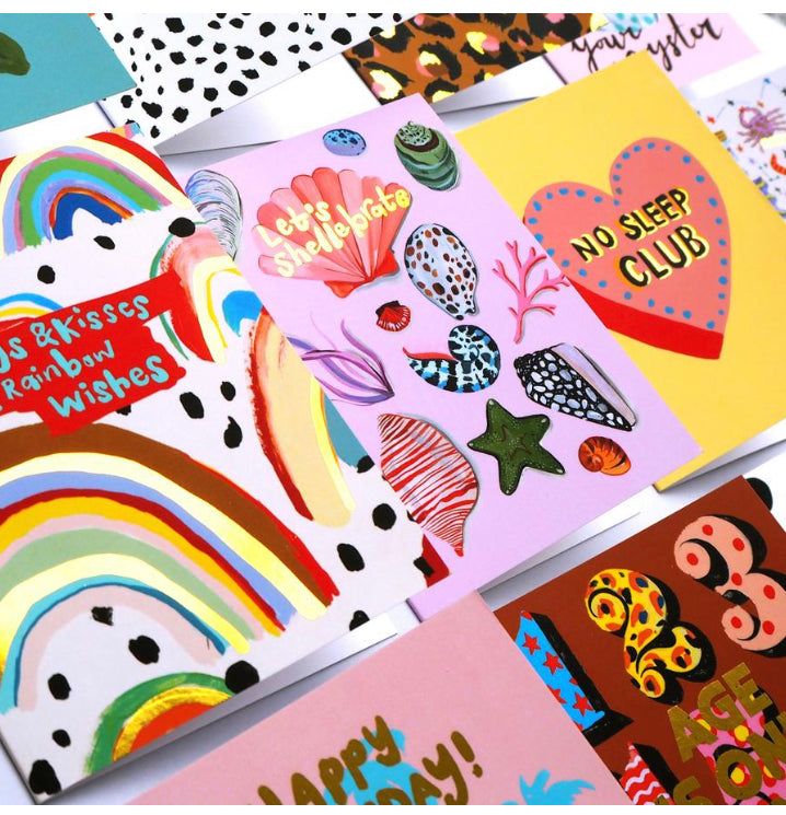 Hugs & Kisses & Rainbow Wishes card by Eleanor Bowmer