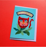Go get Em Tiger Card by Eleanor Bowmer