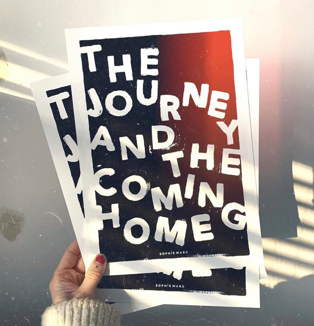THE JOURNEY...Print in Black - By Sophie Ward.