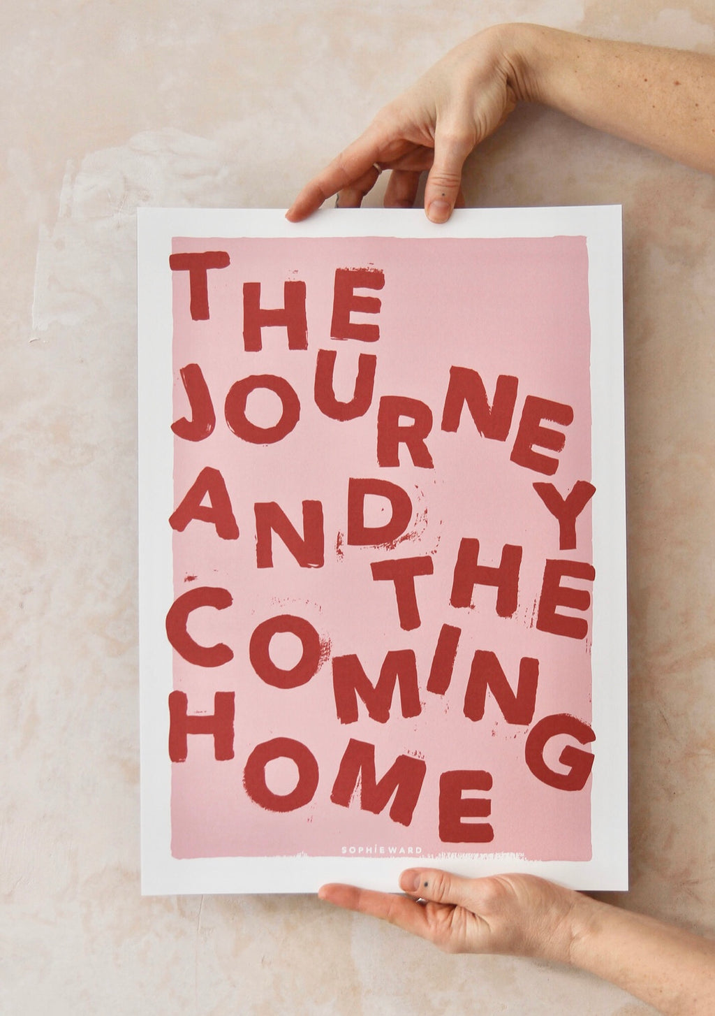 THE JOURNEY...Print in Pink - by Sophie Ward