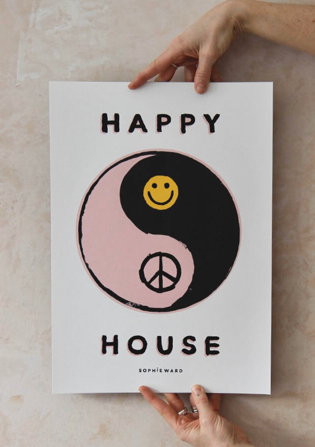 HAPPY HOUSE Print - by Sophie Ward.