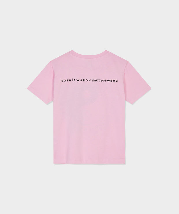 Pink HAPPY LITTLE HUMAN Tee In Aid of YOUNG Minds Charity